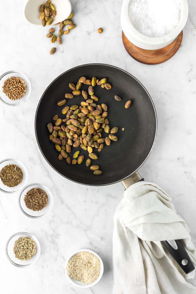 how to make pistachio dukkah