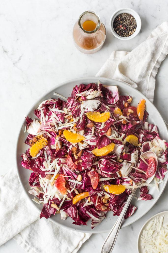 radicchio salad with oranges