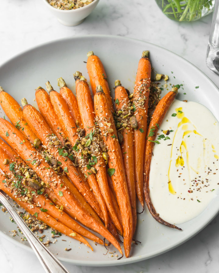 roasted whole carrots with pistachio dukkah recipe