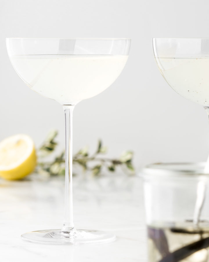 vanilla lemon vodka gimlet