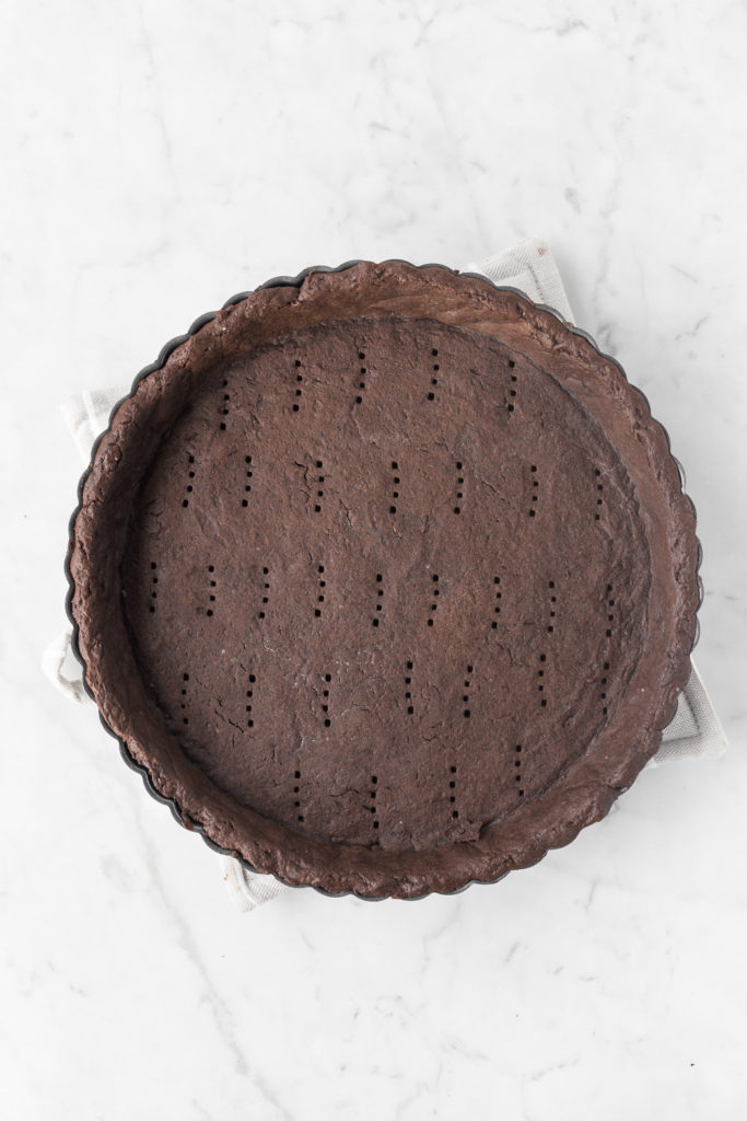 baked chocolate tart shell
