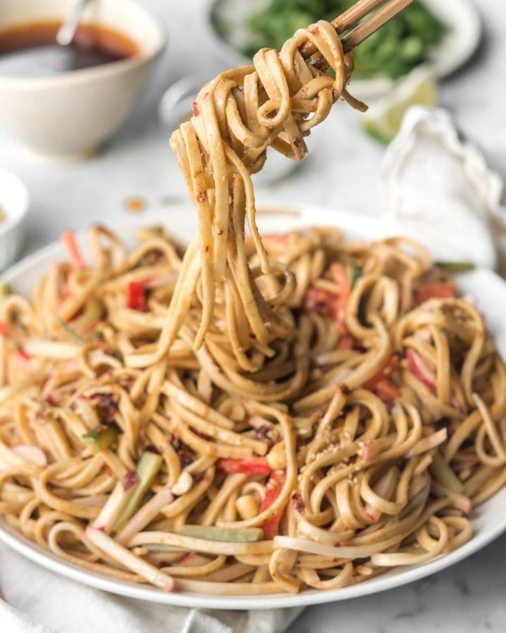 cold peanut sesame noodles