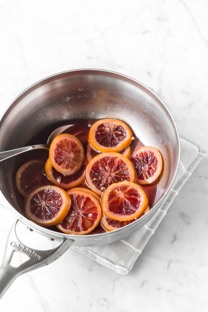 how to make candied blood orange slices