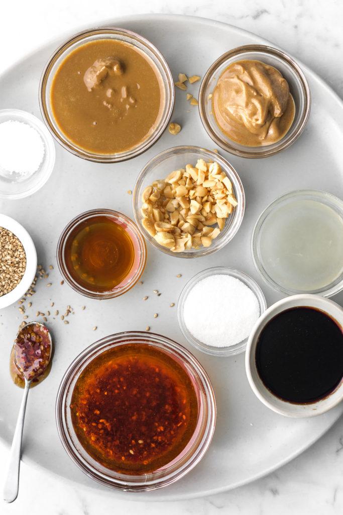 how to make sesame peanut sauce