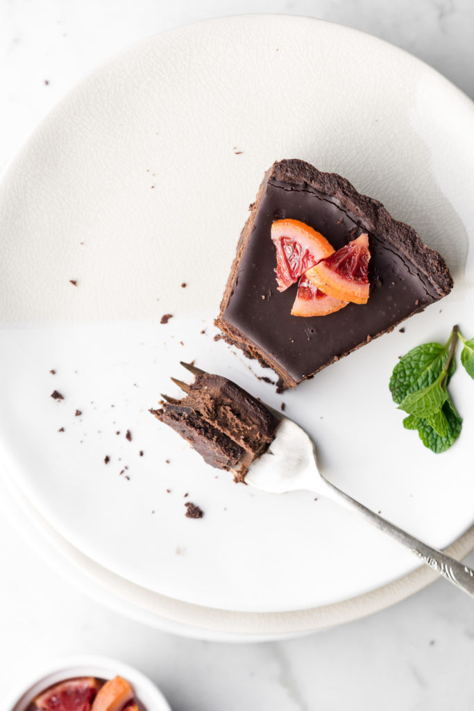 rich double chocolate tart