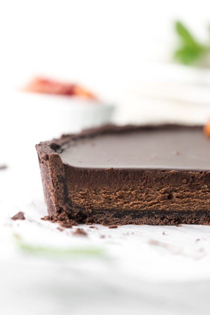 silky triple chocolate tart