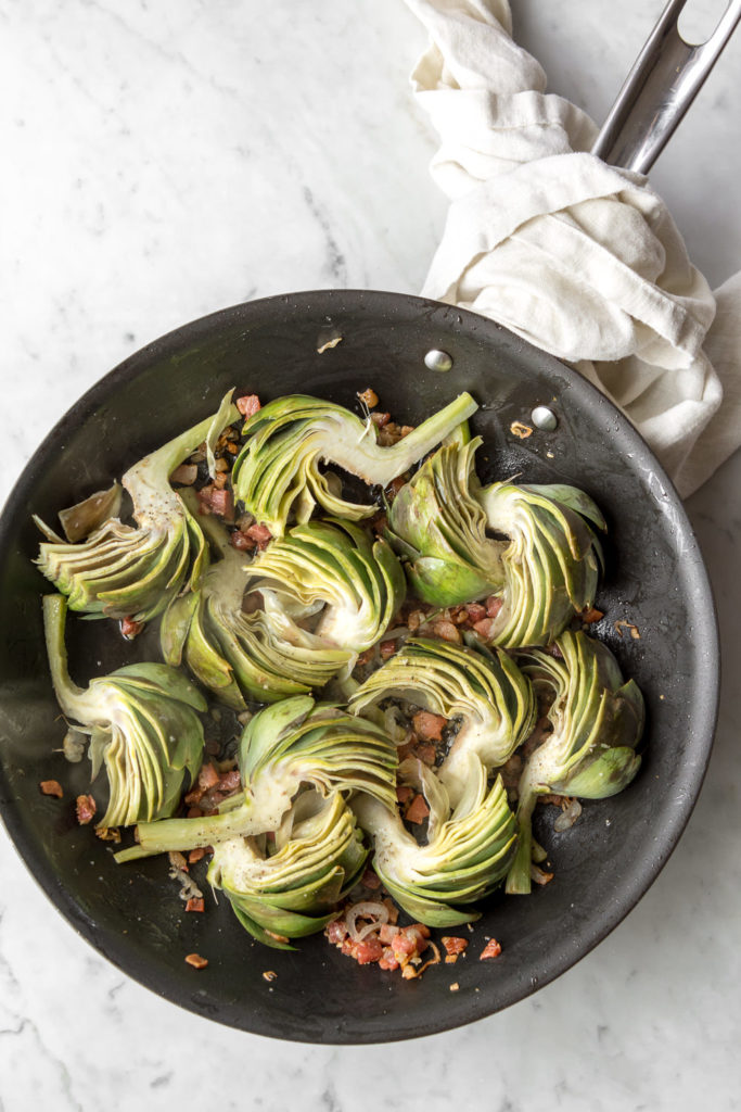 cooking artichoke wedges