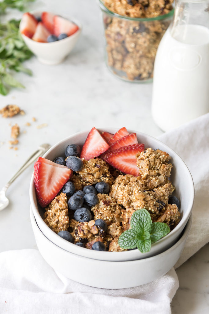 crunchy granola recipe with maple and olive oil