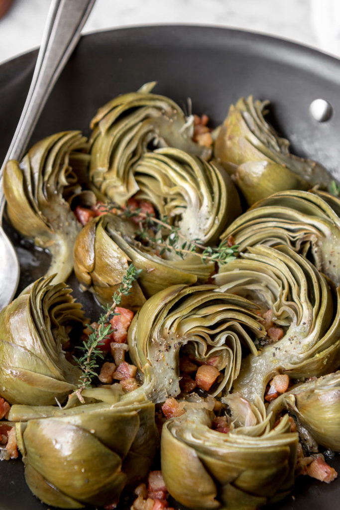 how to braise artichokes
