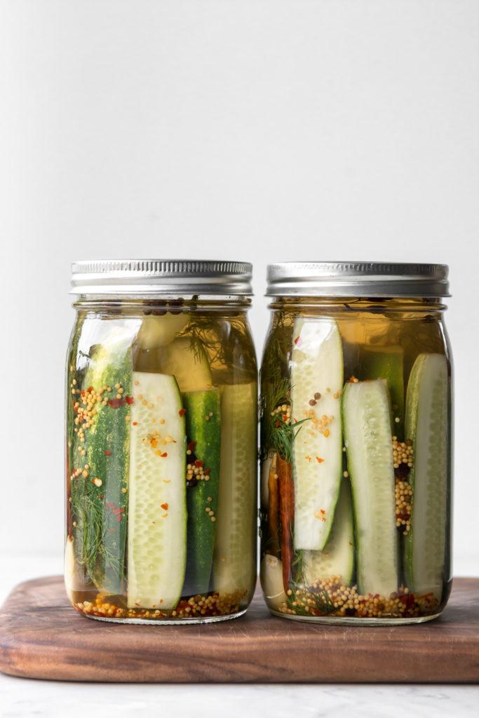 spicy refrigerator dill pickle recipe