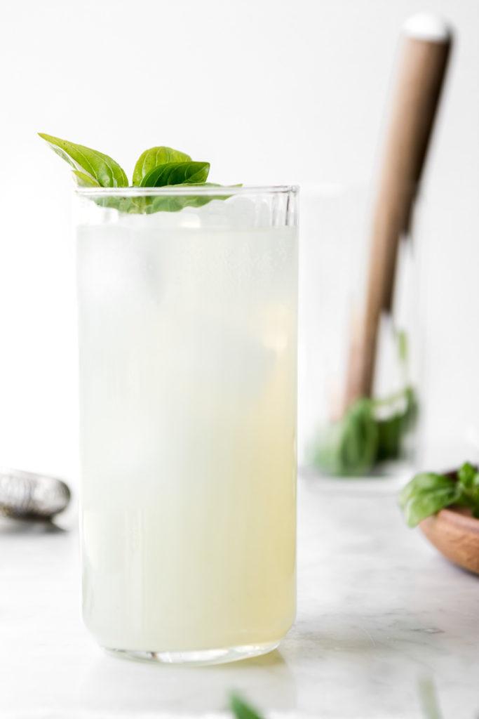 coconut mojito with basil