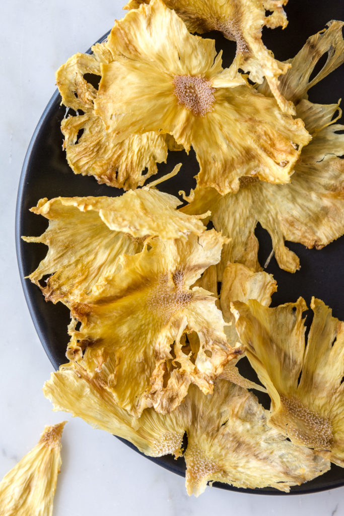 dried pineapple flower cocktail garnishes