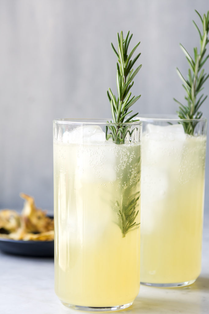 pineapple fizz with rosemary and rum