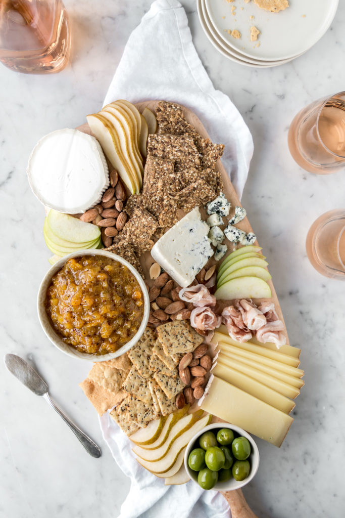apricot mostard recipe with cheese platter