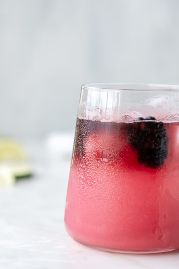 blackberry tequila spritz with red wine float