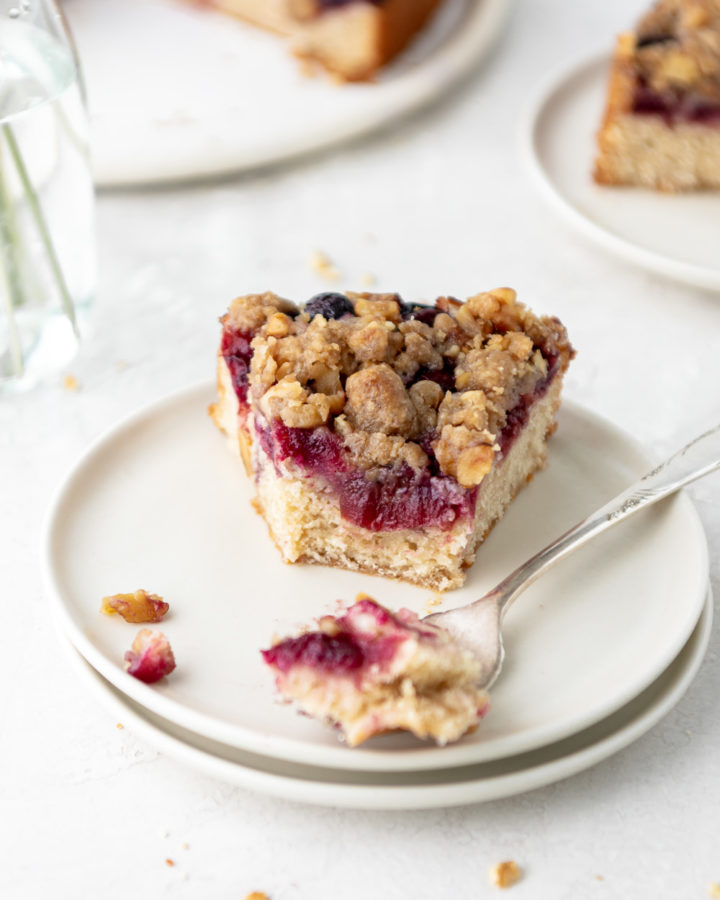 cherry rye buckle with walnut streusel recipe
