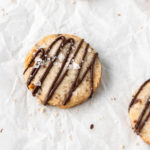 walnut shortbread with mocha drizzles