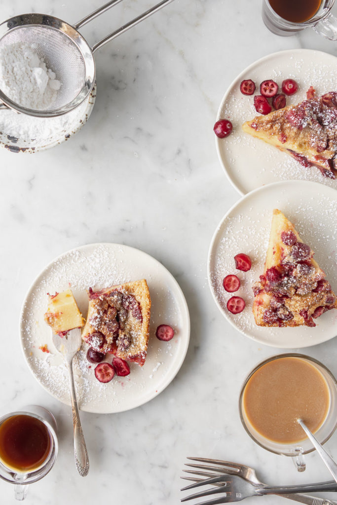 brown butter cranberry clafoutis