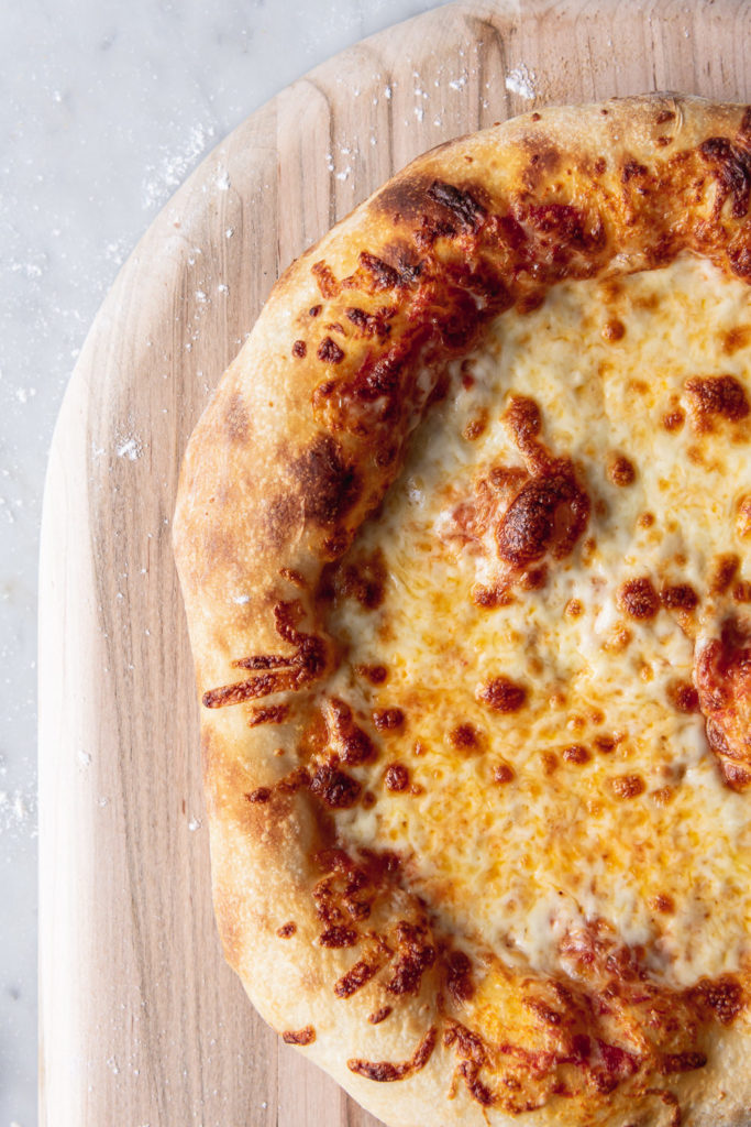 chewy, crispy artisan pizza dough recipe
