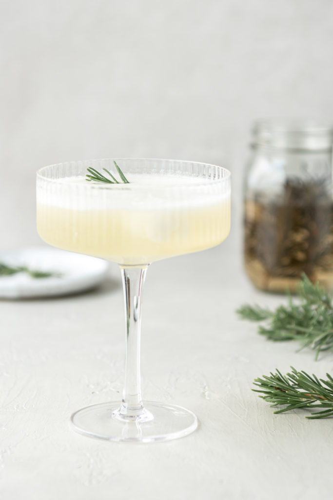 lemon rosemary sgroppino cocktail