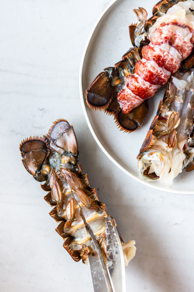 how to prep a lobster tail