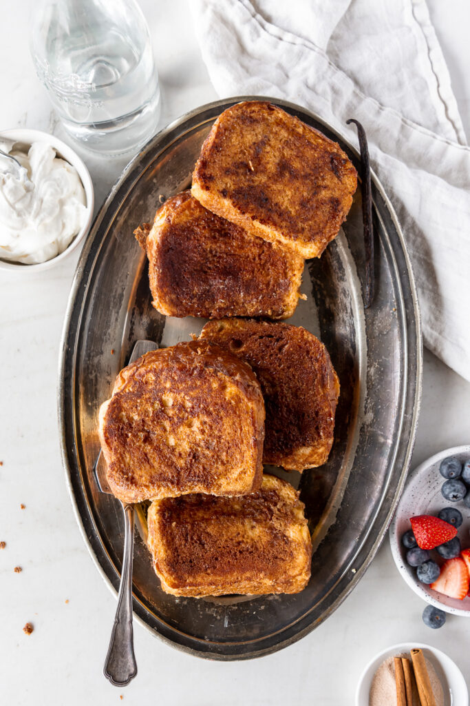 thick cinnamon brioche french toast