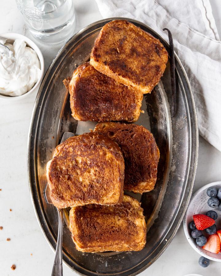 thick cinnamon brioche french toast