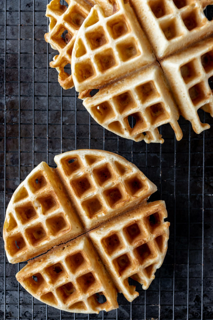 how to store yeasted waffles