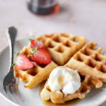 yeasted waffle recipe with whipped maple mascarpone