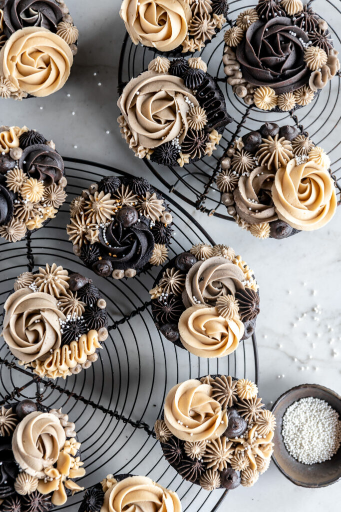 ganache stuffed chocolate guinness cupcakes with espresso buttercream recipe