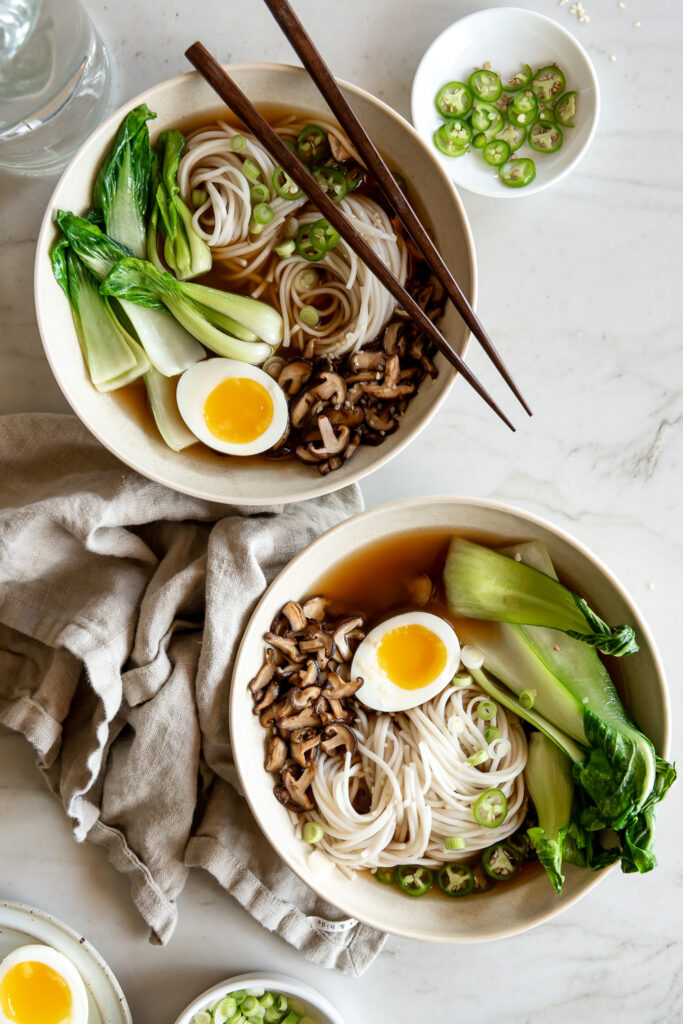 spicy miso udon soup