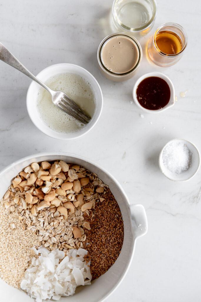 how to make tahini granola