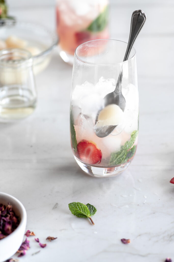 lychee mojito from scratch