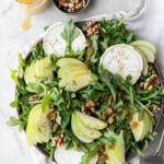 apple arugula salad with goat cheese and walnuts