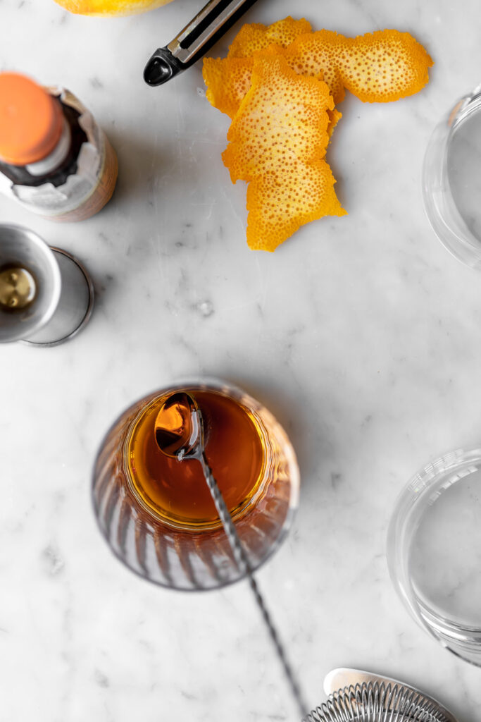 how to make a maple syrup old fashioned