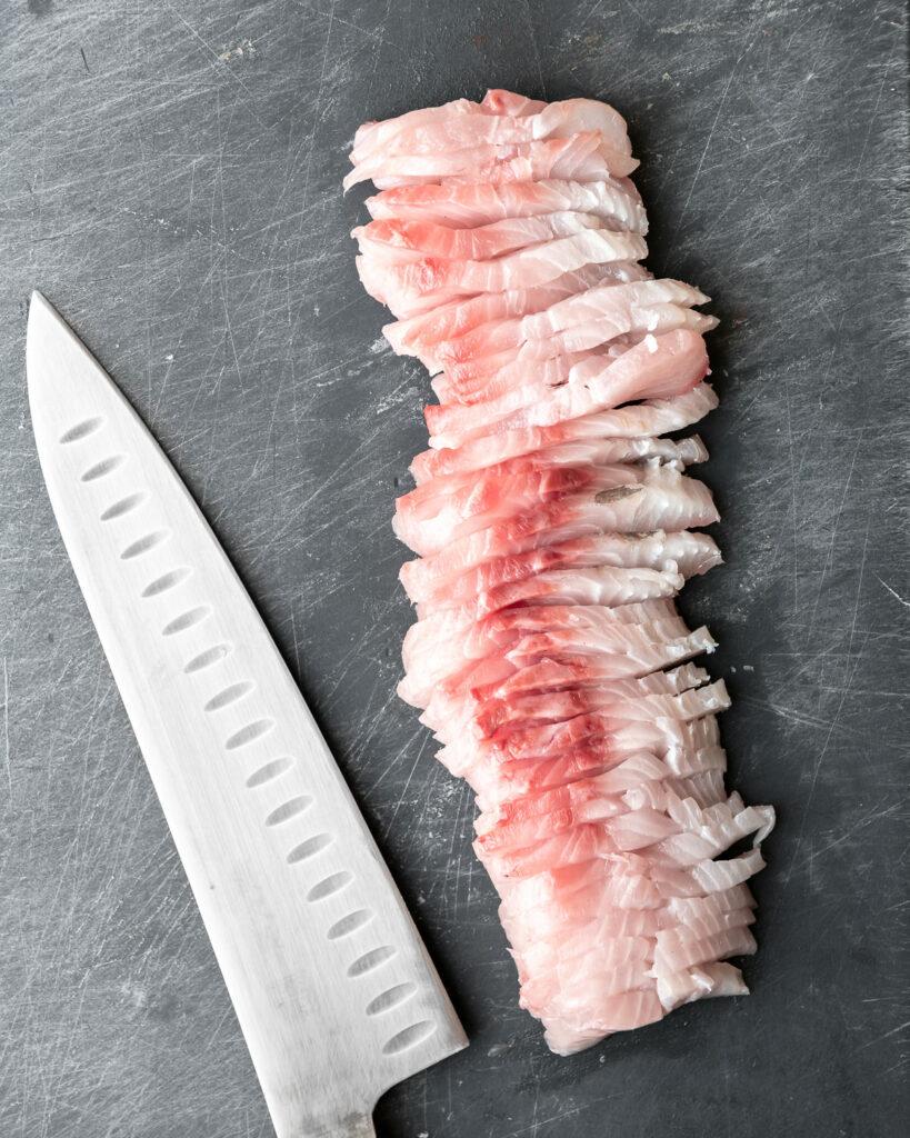 how to slice hamachi