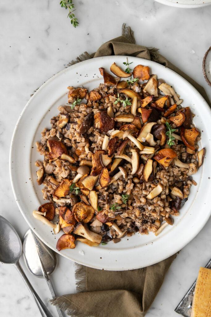 farro risotto recipe with wild mushrooms