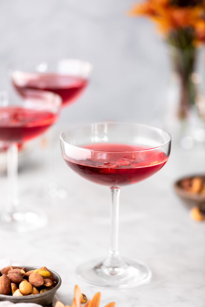 cranberry martini holiday cocktail